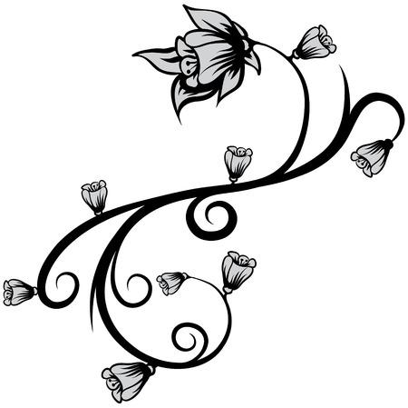 Floral element 39 Ilustração