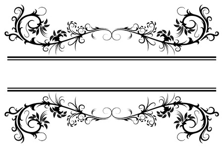 decorative borders: Floral frame
