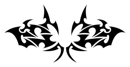 wing figure: Tribal tattoo