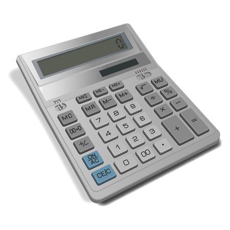 adding: Electronic calculator isolated on white background.