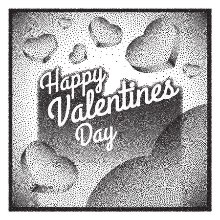 heart tone: Vintage Happy Valentines Day card.