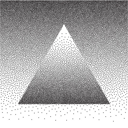 black dots: Vector triangle gradient background with black dots.