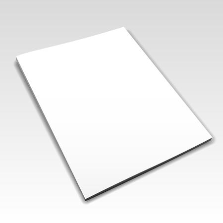 blank magazine: Blank magazine mockup template.