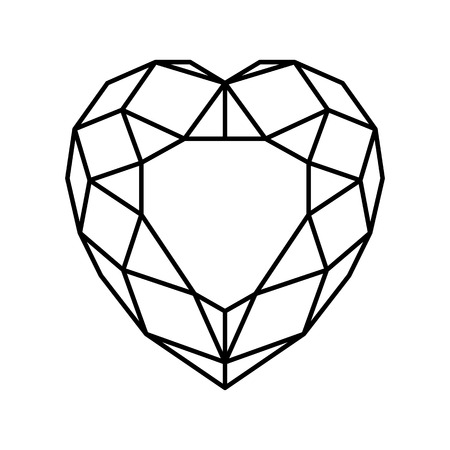 lineart: Vector lineart of heart on isoleted background Illustration