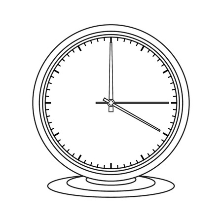 isoleted: Simple icon clock on white isoleted background