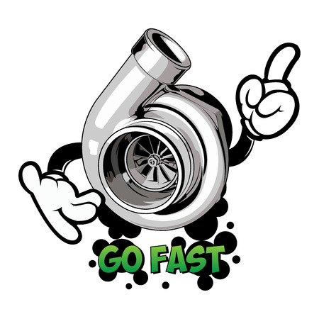 Go Fast print for t-shirts on white isolated background