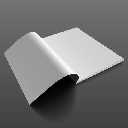 modello rivista mockup vuoto. magazine aperto. Realistico illustrazione vettoriale EPS10. Vettoriali