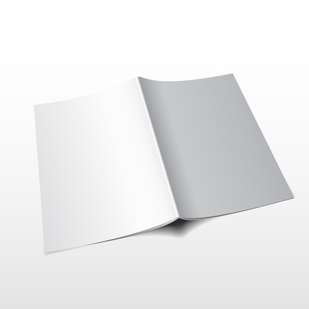 blank magazine: Blank magazine mockup template. Realistic vector illustration. Illustration