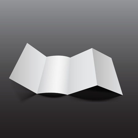blank magazine: Blank empty magazine or book or booklet, brochure, catalog, leaflet, template on a gray background. vector Illustration