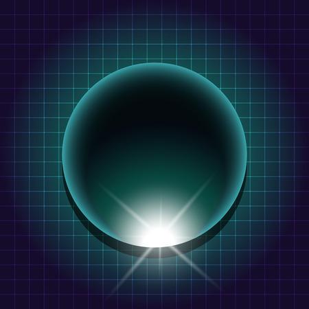 scifi: 80s Retro Sci-Fi Background VHS. Vector EPS10