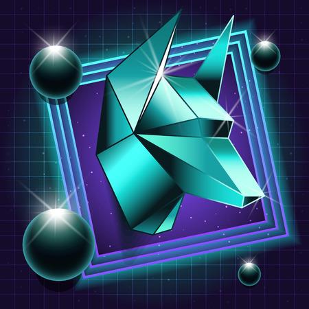 anubis: Sci-fi illustration of Anubis. Retro Laser Style. Vector