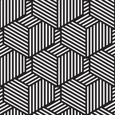 Seamless geometric pattern in op art design. Vector illustration Vektorové ilustrace