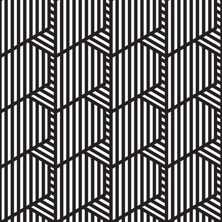 op: Seamless geometric pattern in op art design. Vector illustration