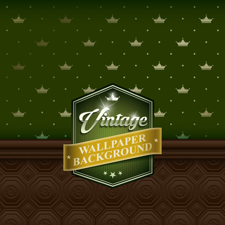 french fancy: Retro background wallpaper with wood panel. Vector EPS10. Illustration