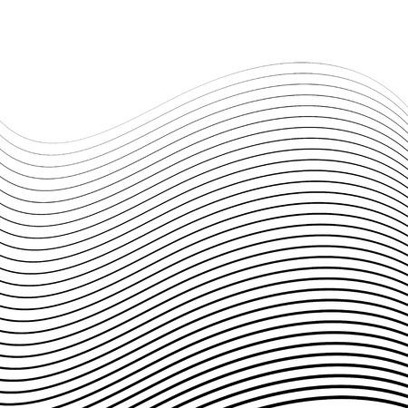 Abstrakt Halbtonhintergründe. Von Linien und Wellen