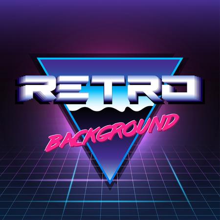scifi: 80s Retro Sci-Fi Background Illustration