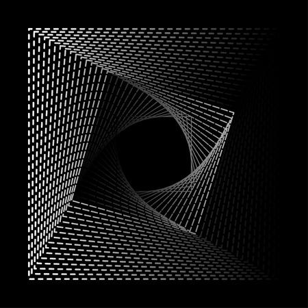 gradation art: Black Abstract Halftone Square Frame Background Illustration