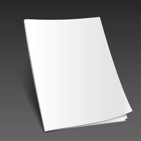 Blank magazine mockup template. Opened magazine. Illustration