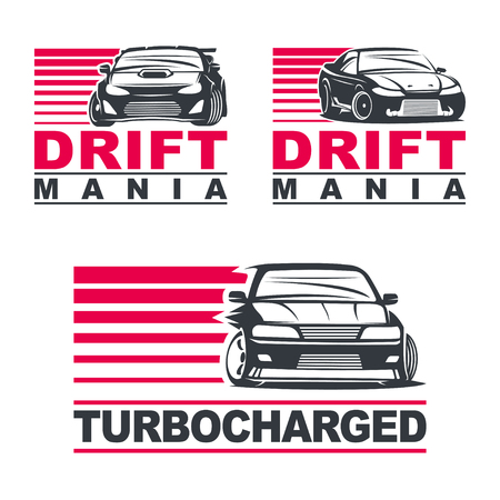 Set of four sport cars Illustration