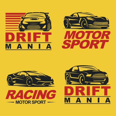 mania: Set of four sport cars Illustration