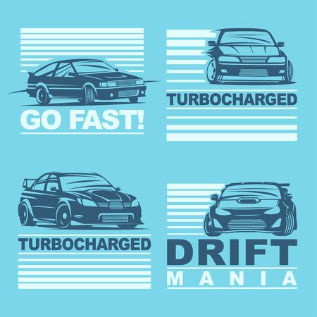 nitro: Set of four sport cars Illustration