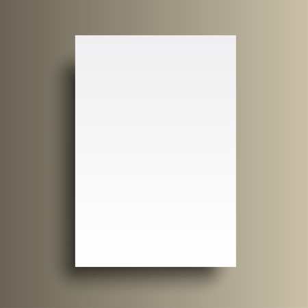 a4: Vector A4 mockup isolated on gold background.
