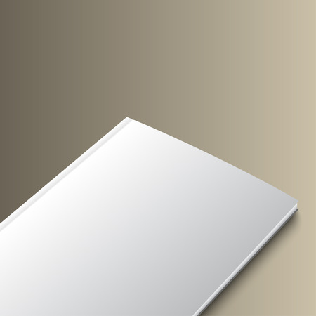 closed book: Mockup of closed book template on gold background. Illustration