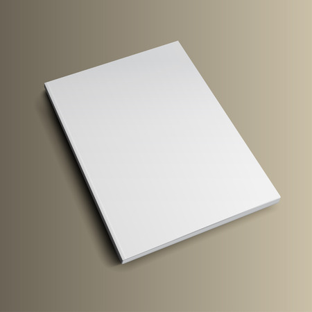 blank magazine: Blank magazine mockup template on gold background.