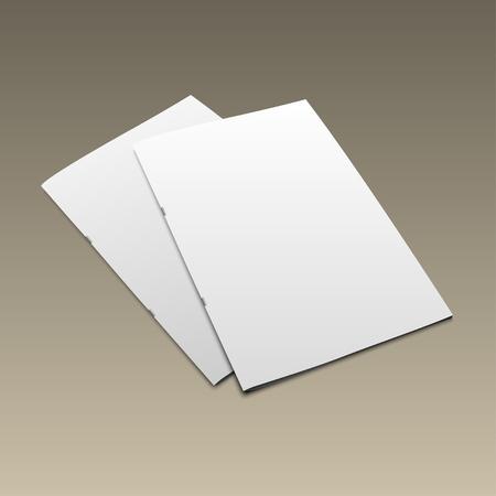 magazine template: Blank magazine mockup template on gold background. Closed magazine.