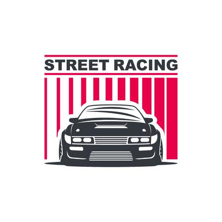 nitro: Sport car template illustration on white background. Illustration