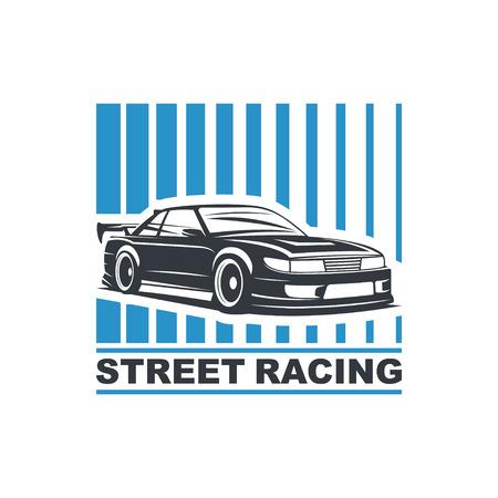 Sport car template illustration on white background. Illustration