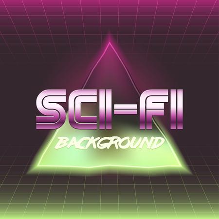 80's: 80s Retro Sci-Fi Background.