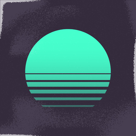 80er Retro Sci-Fi Hintergrund.