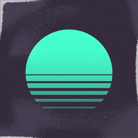 80s Retro Sci-Fi Background.