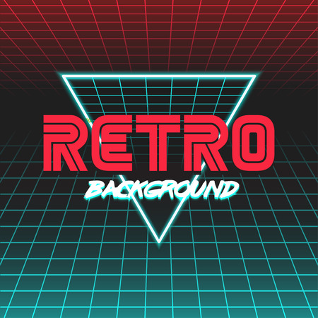 80s: 80s Retro Sci-Fi Background.