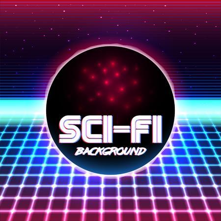 scifi: 80s Retro Sci-Fi Background.