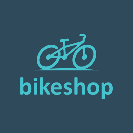 small business team: Original Design , Emblem, Label Template with Bicycle. Shop design template elements for your corporate identity or sport team branding. For your Small Business Design.