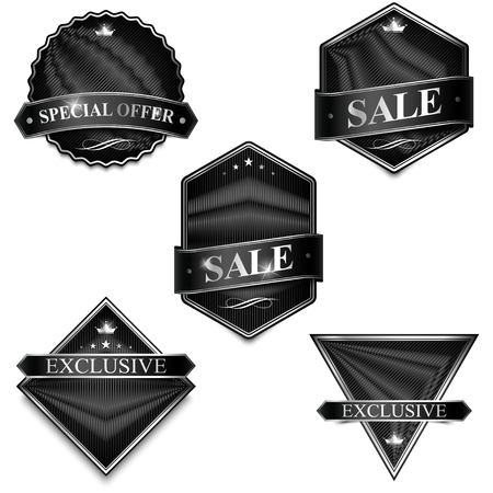 Badge Elements Blank Template. Inscription Label, Sticker, Emblem.