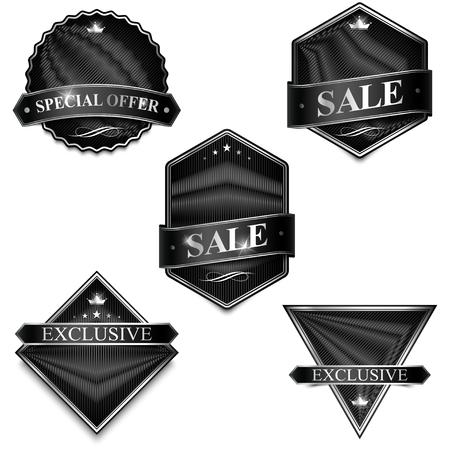 blanked: Badge Elements Blank Template. Inscription Label, Sticker, Emblem.