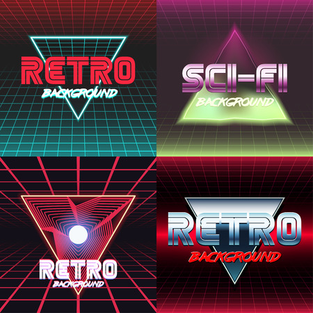 Set of design covers. Retro style.