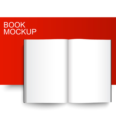 blank magazine: Blank Book mockup template. Closed magazine. Red Line series.
