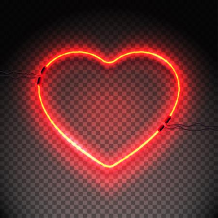 Neon lamp heart