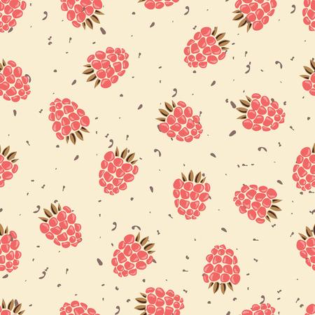 raspberry pink: Vector illustration. Raspberry. Summer. Yagoda. Pink.