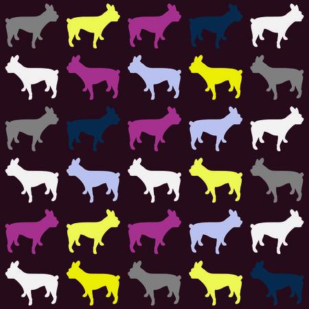 pets, vector, pattern, seamless, bulldog, puppy, dog