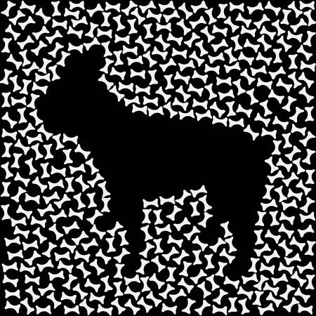 abundance: vector, illustration, dog, bulldog, french, animal, pet Illustration