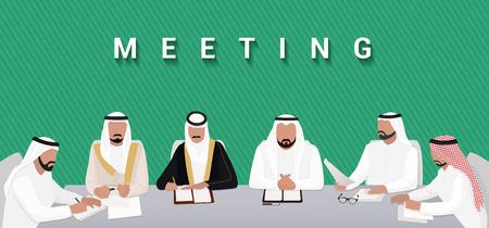 Summit. Meeting of Arab Heads of State Vettoriali