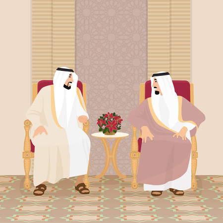 Meeting of the Arab kings of the sheikhs