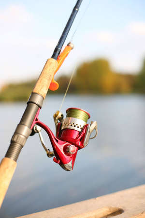 a fishing reel and a silicon lure photo