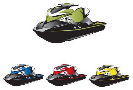 Seadoo 水動力車、手のベクトル、高詳細と品質。