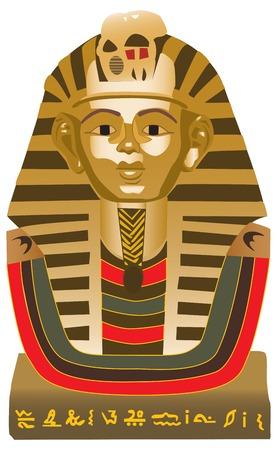 Gran Esfinge de Giza, la estatua de un león recostado con cabeza humana que se encuentra en la meseta de Giza, en la orilla oeste del Nilo, cerca de la actual días El Cairo, en Egipto. Ilustración de vector